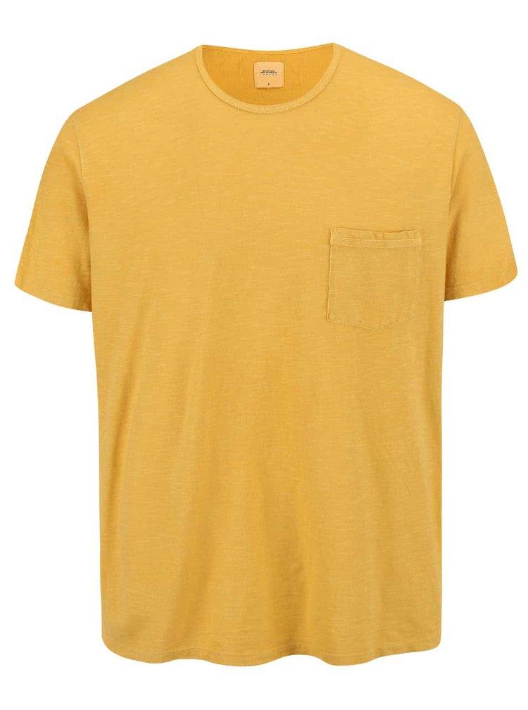 Žlté tričko s vreckom Burton Menswear London