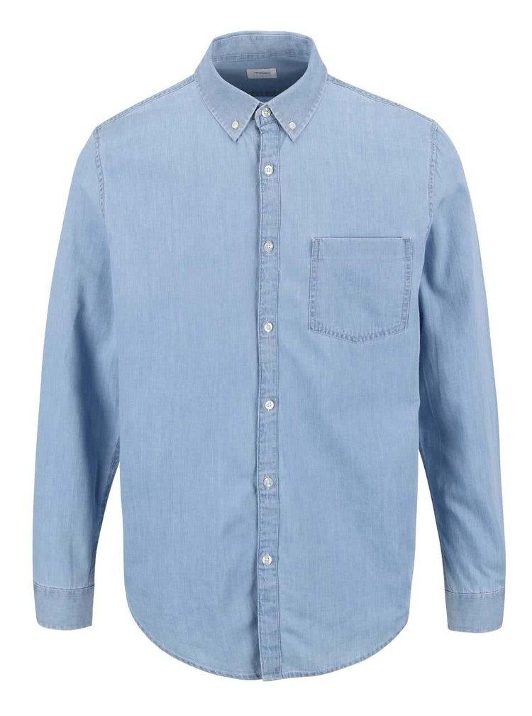 Svetlomodrá rifľová košeľa s vreckom Burton Menswear London