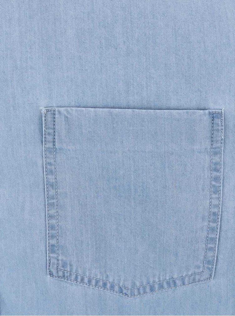 Camasa tip denim Burton Menswear London albastru deschis