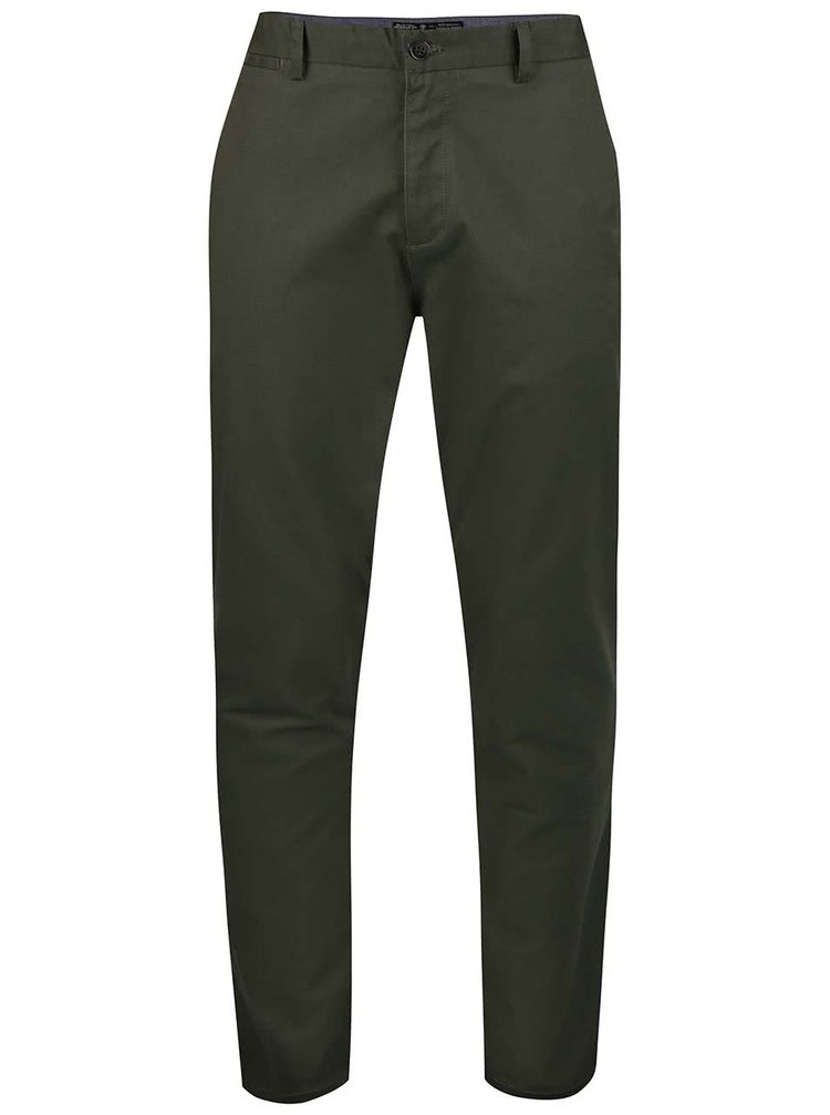 Pantaloni chino Burton Menswear London kaki