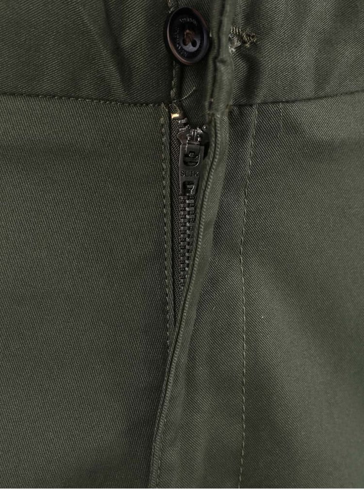 Khaki chino kalhoty Burton Menswear London