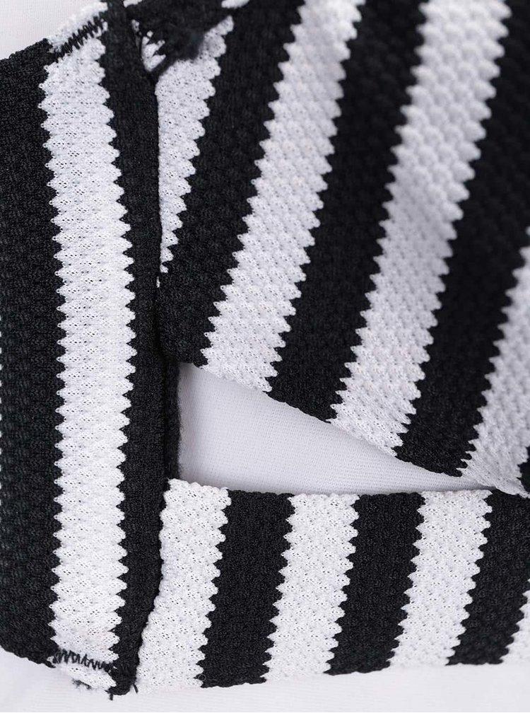 Černo-bílý pruhovaný vrchní díl plavek VERO MODA Mimi