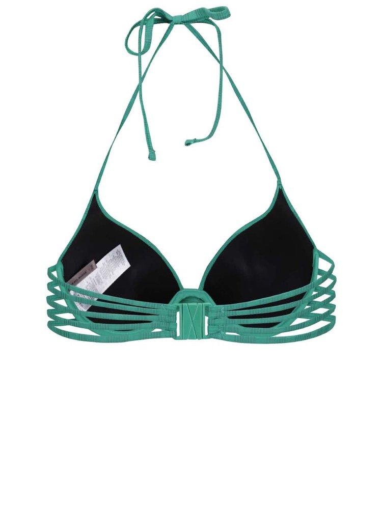 Zelený vrchný diel plaviek s pruhmi VERO MODA Sanne