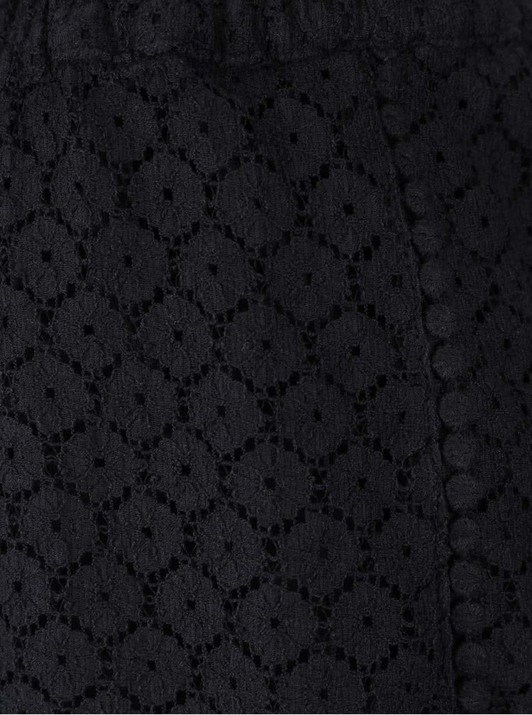 Čierne čipkované kraťasy VERO MODA Jolien