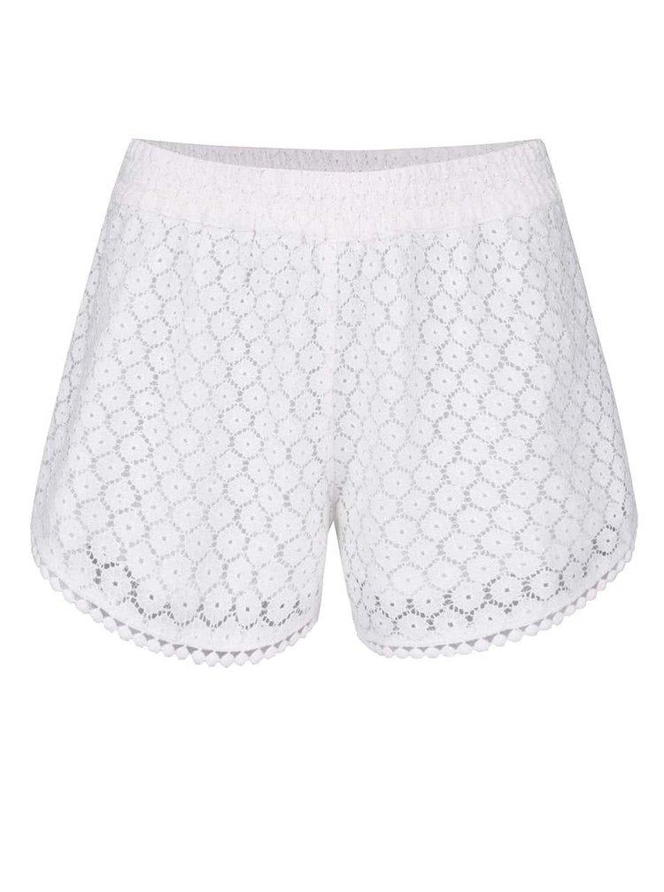 Bílé krajkové kraťasy VERO MODA Jolien