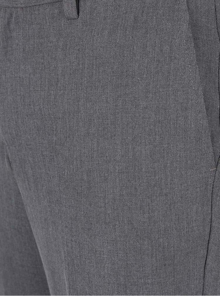 Šedé slim kalhoty s černými detaily Burton Menswear London