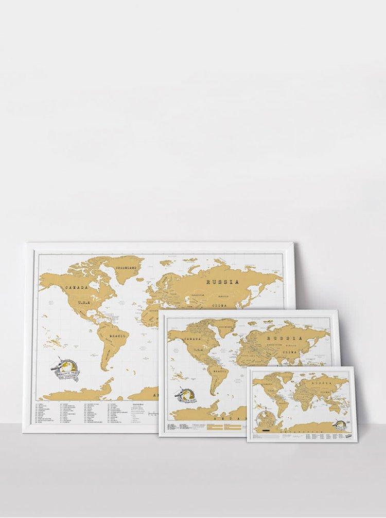Velká nástěnná stírací mapa Luckies XL Edition
