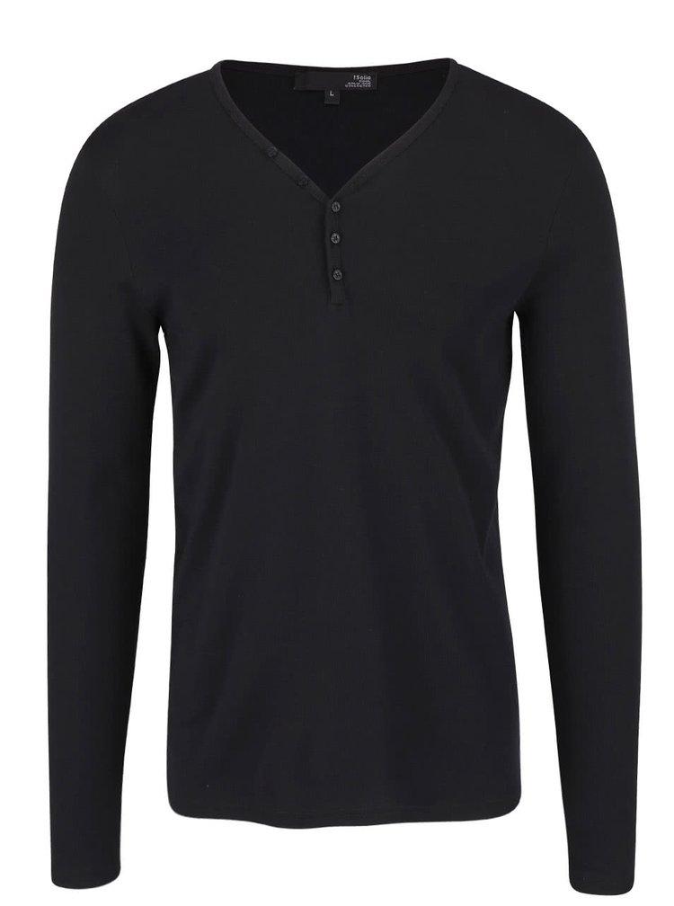 Čierne tričko s dlhým rukávom !Solid Philip