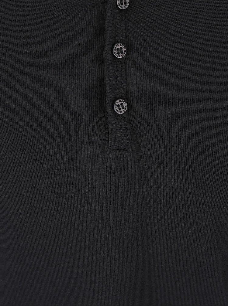 Černé triko s dlouhým rukávem !Solid Philip