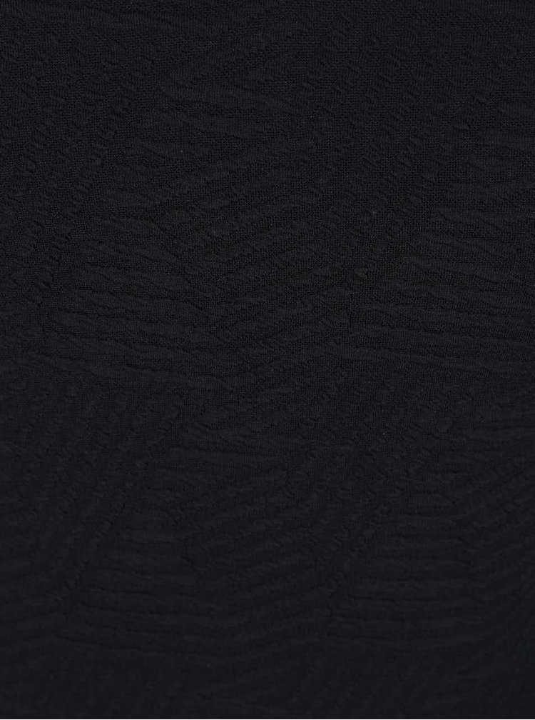 Čierne šaty s lodičkovým výstrihom Miss Selfridge