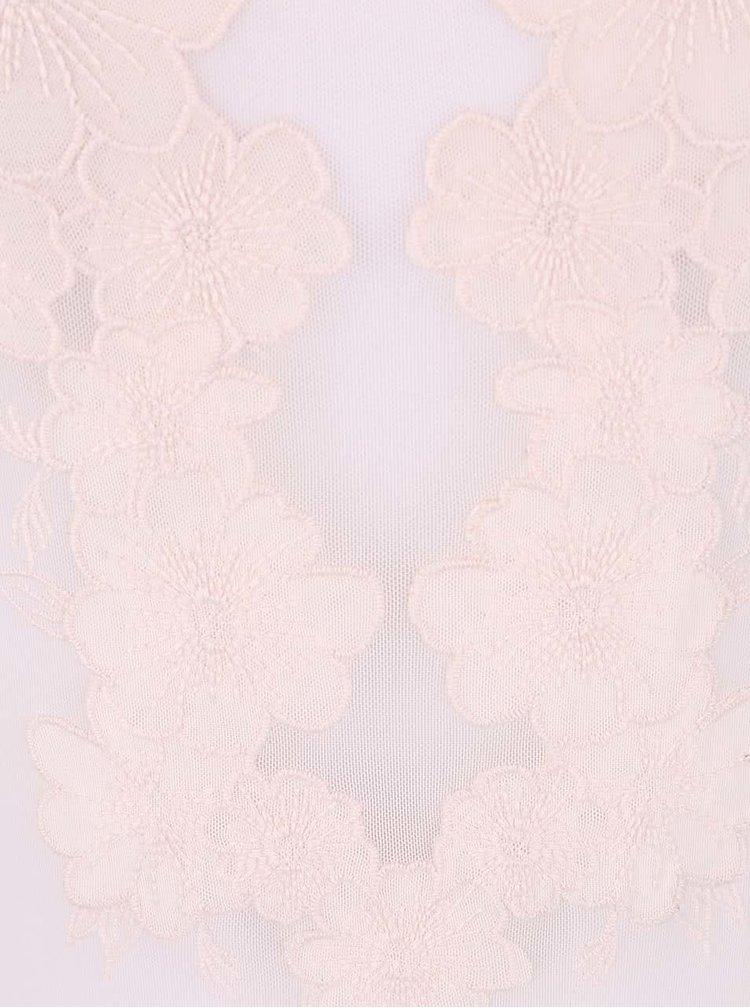 Body Miss Selfridge roz deschis cu dantelă