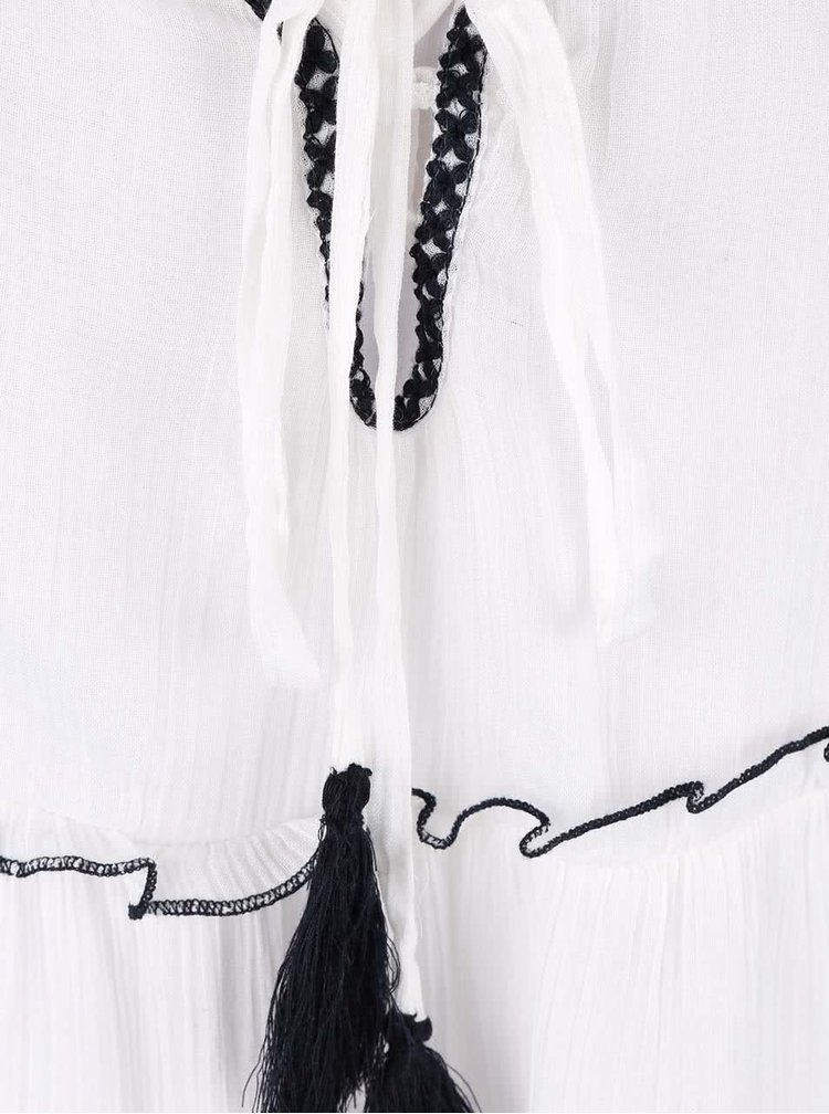 Bílé tílko s černými detaily Miss Selfridge