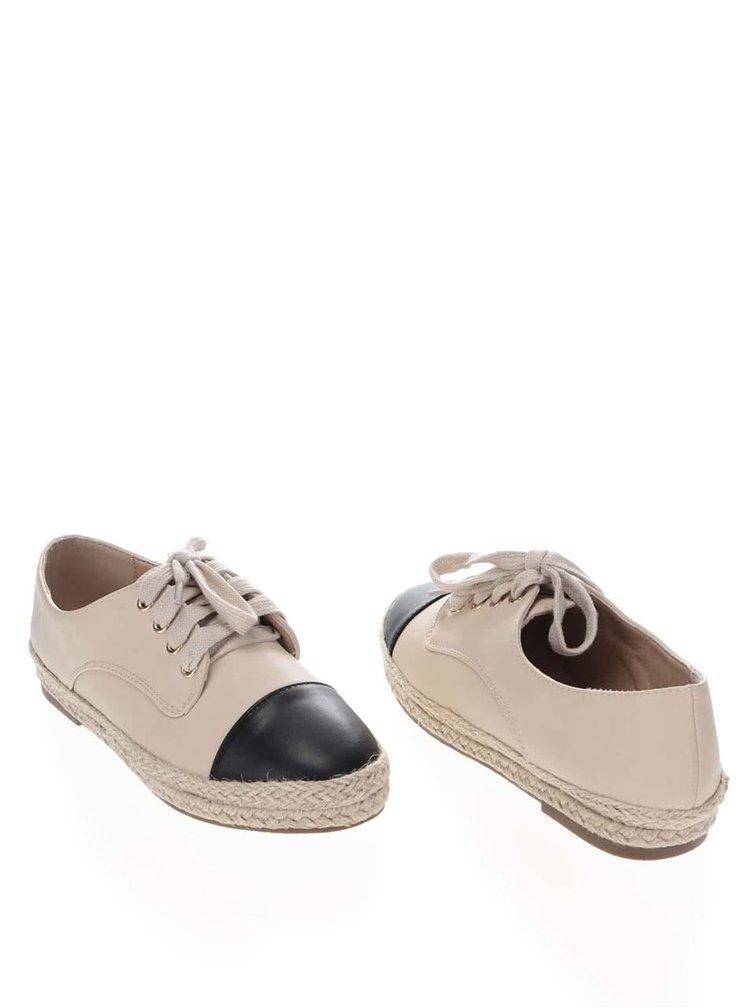 Pantofi Miss Selfridge crem-negri