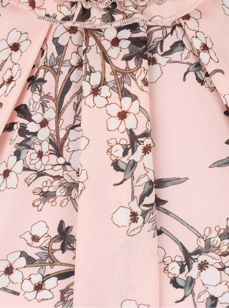 Ružová kvetovaná blúzka Miss Selfridge