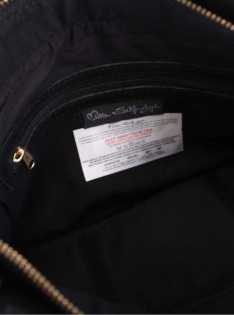 Čierna semišová crossbody kabelka so strapcami Miss Selfridge