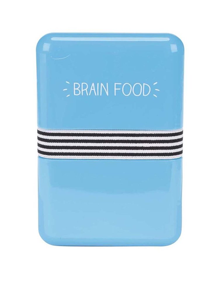 Modrý svačinový box Happy Jackson Brain Food