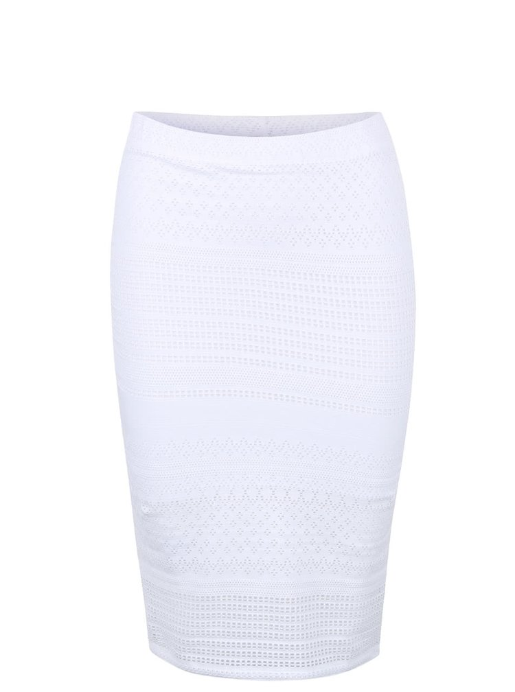 Bílá krajková sukně Miss Selfridge