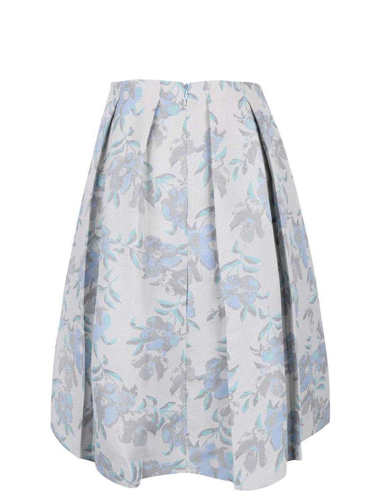 Šedá midi sukně se vzorem květin Miss Selfridge