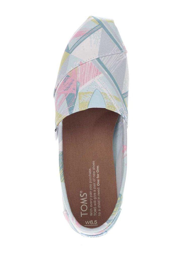 Pastelové dámské vzorované loafers Toms