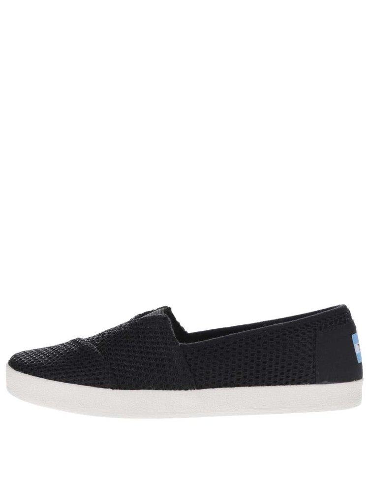 Černé dámské vzorované loafers Toms