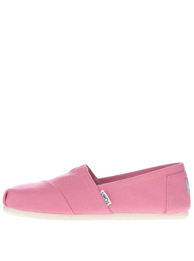 Svetloružové dámske loafers Toms