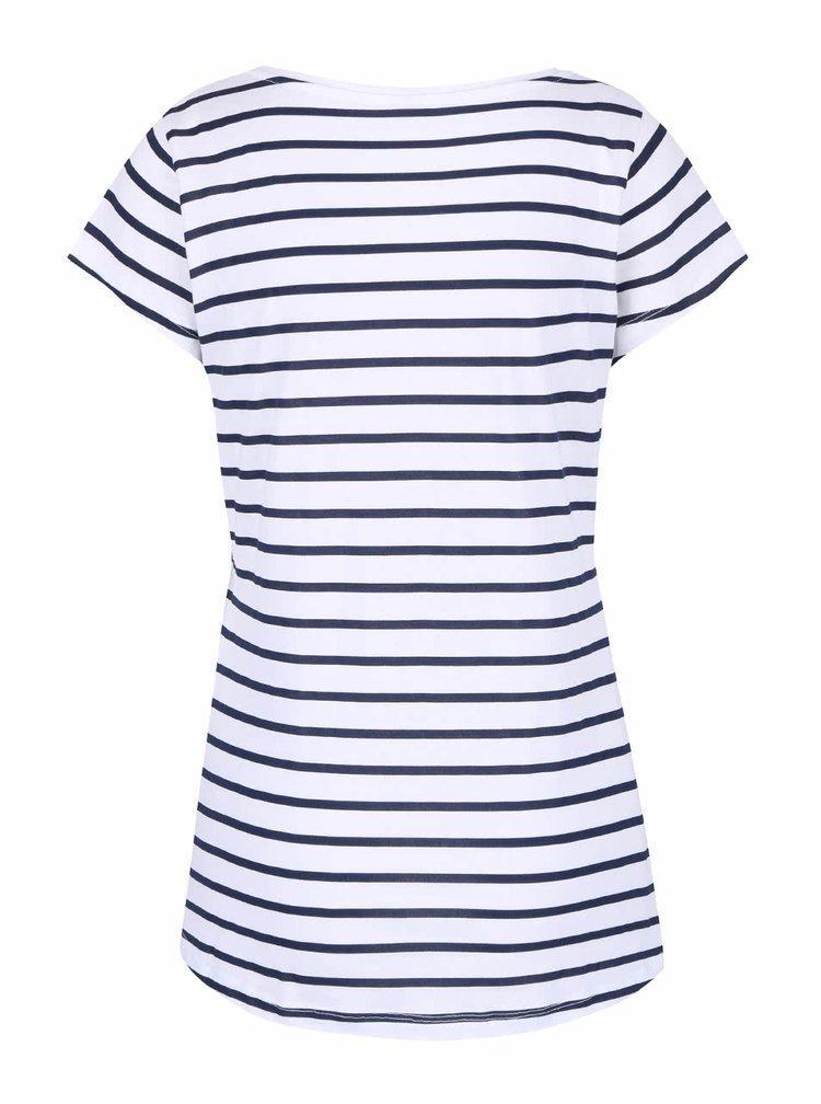 Modro-bílé pruhované tričko Madonna