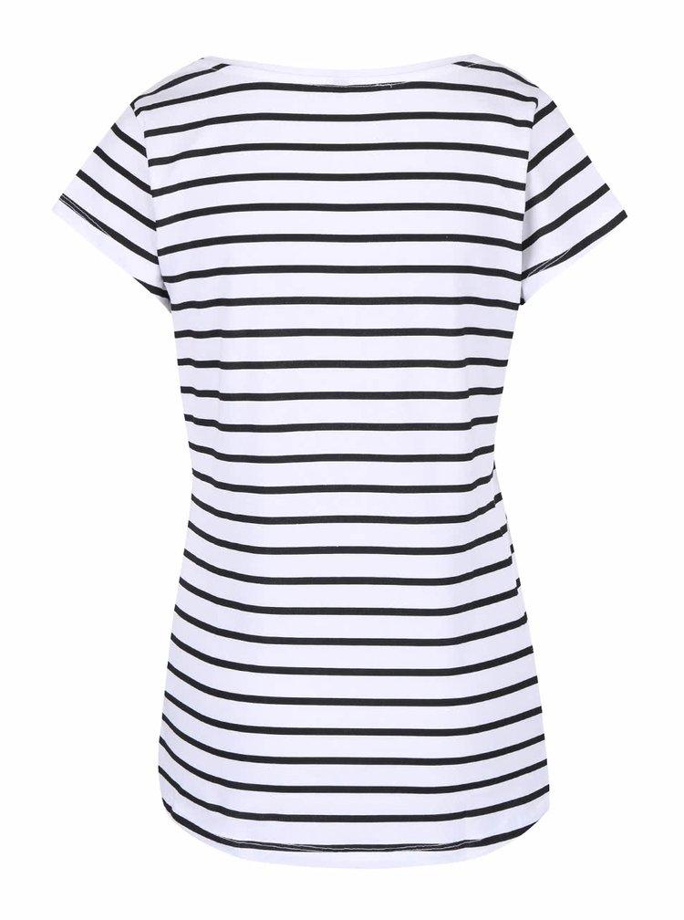 Černo-bílé pruhované tričko Madonna