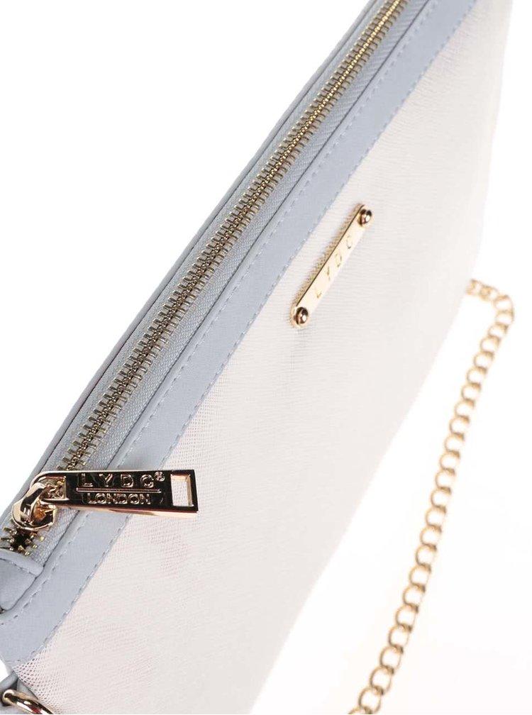 Modro-krémové psaníčko s detaily ve zlaté barvě LYDC