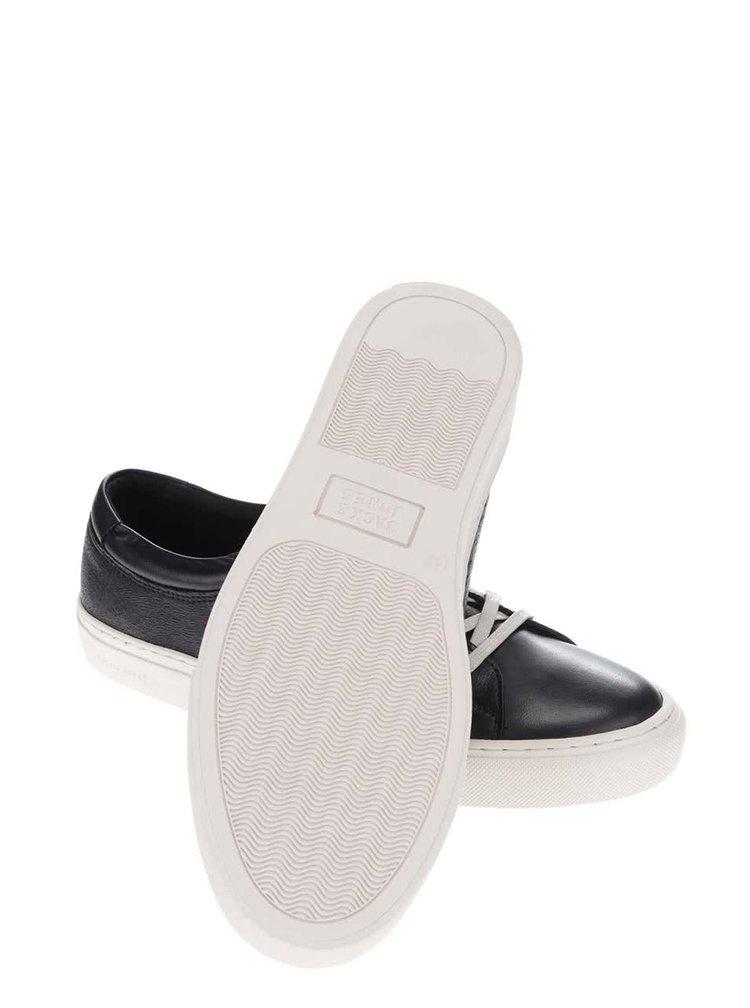 Krémovo-černé kožené tenisky Jack & Jones Galaxy