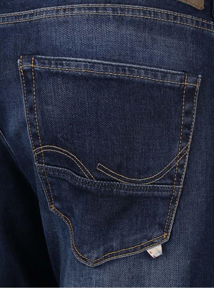Modré rovné džíny Jack & Jones Glenn