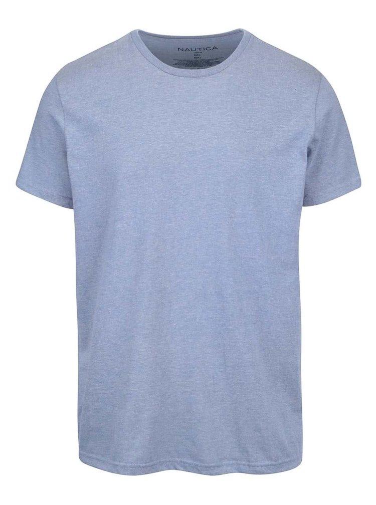 Sivomodré pánske tričko s potlačou na chrbte Nautica