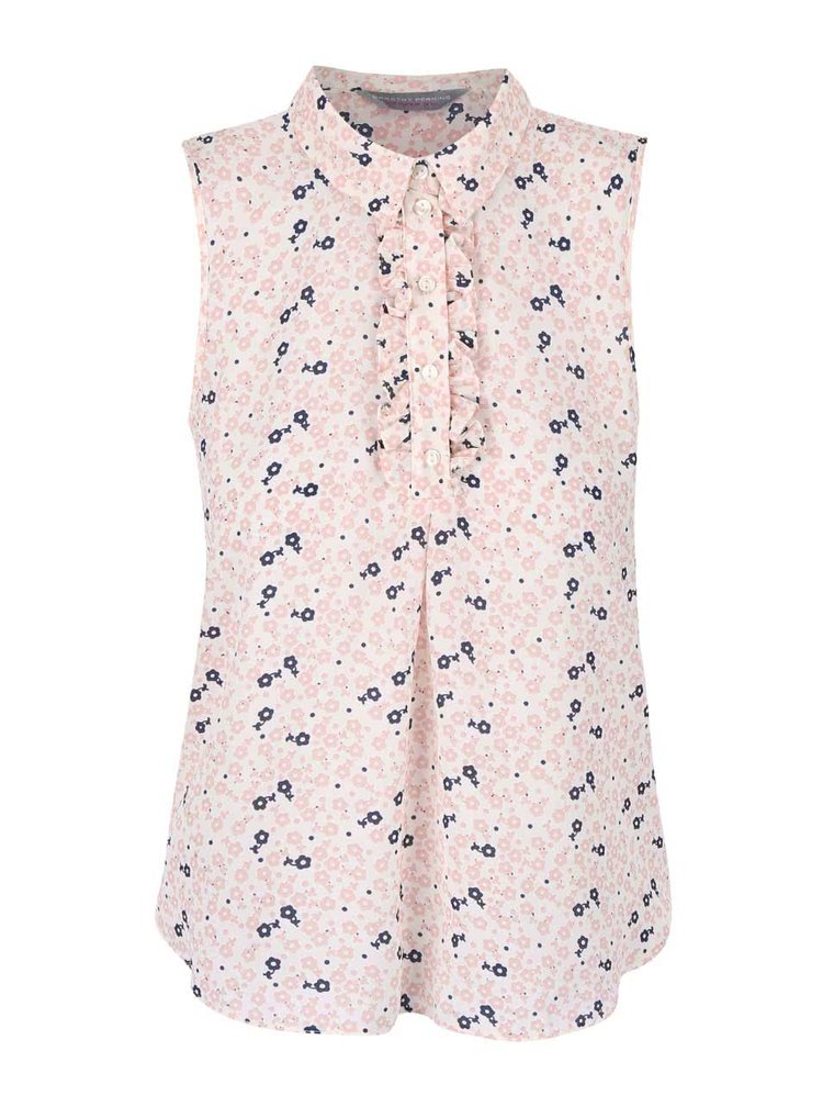 Bluză fără mâneci Dorothy Perkins roz cu imprimeu