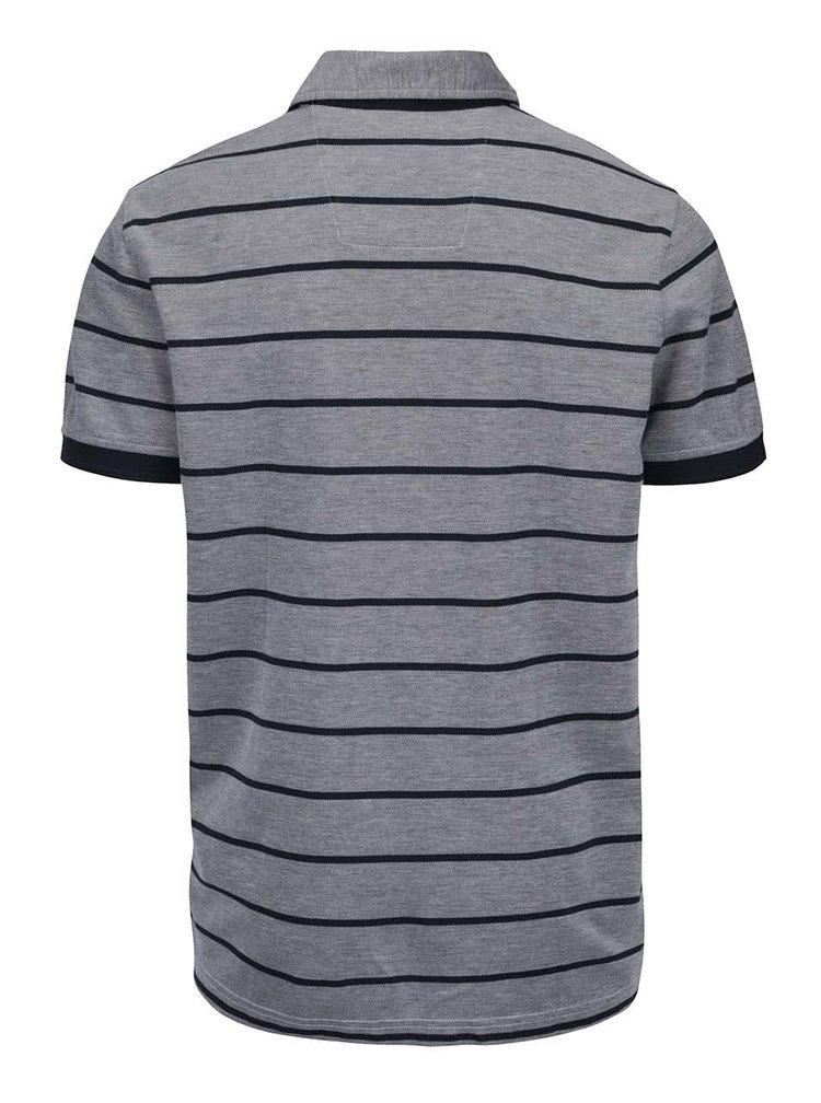 Modro-šedé pánské pruhované polo triko Nautica