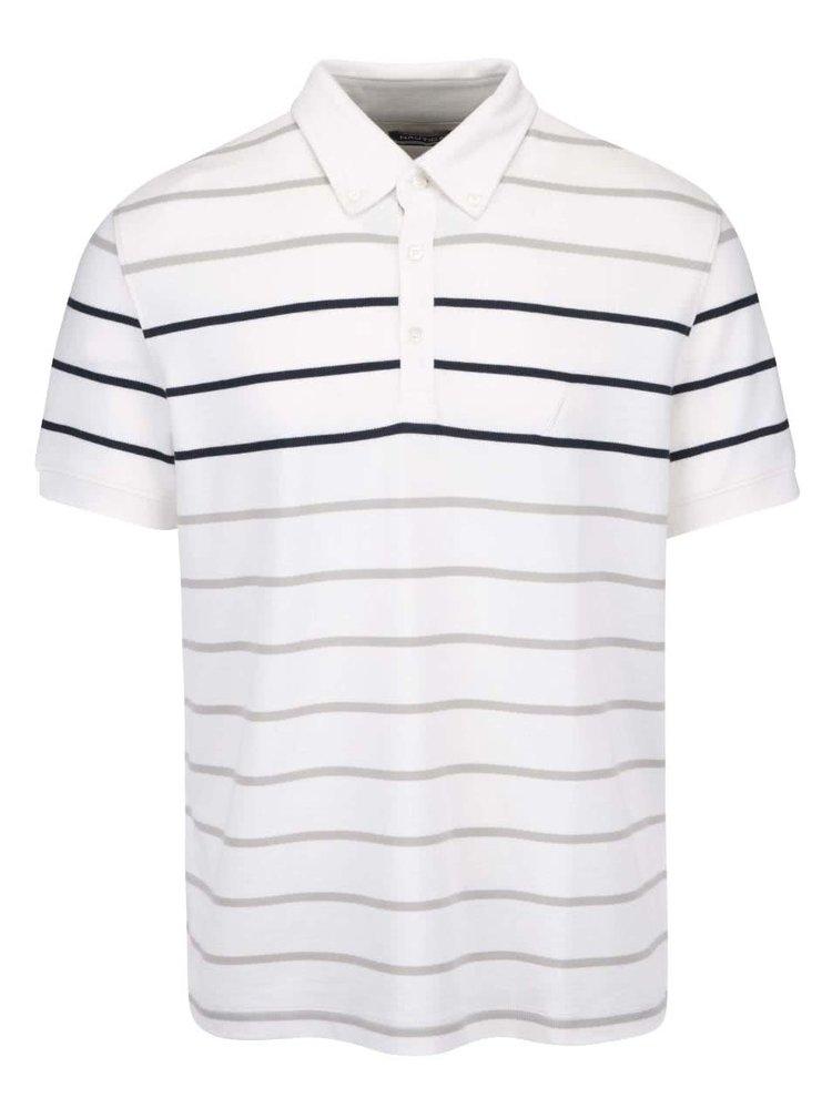 Krémové pánské pruhované polo triko Nautica