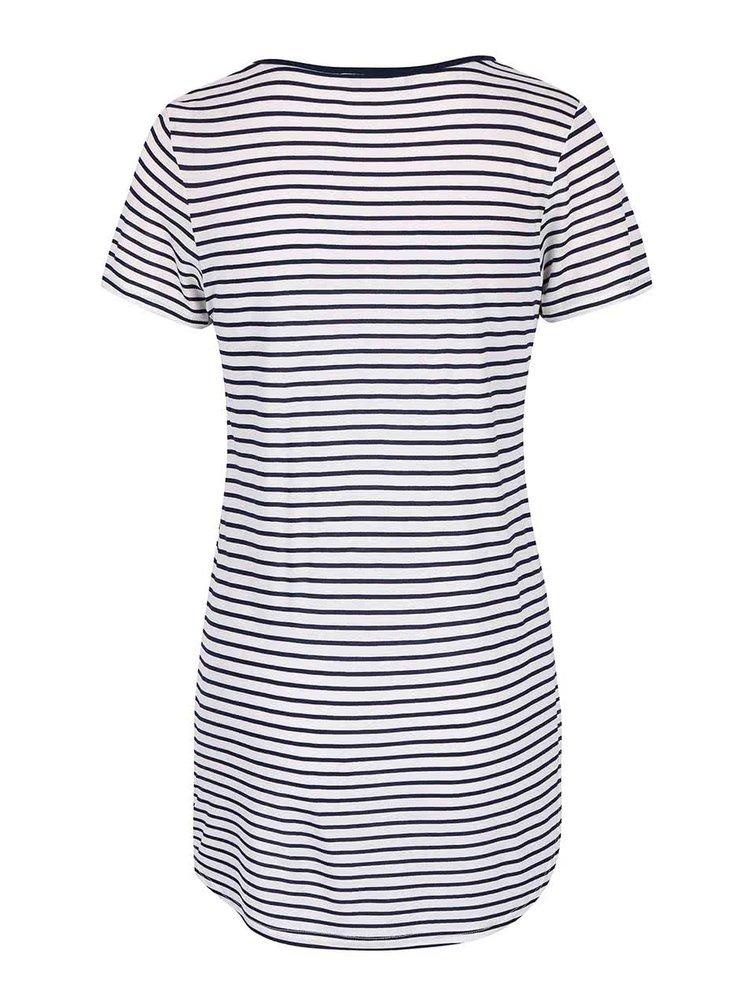 Modro-krémové pruhované dlhšie tričko Dorothy Perkins