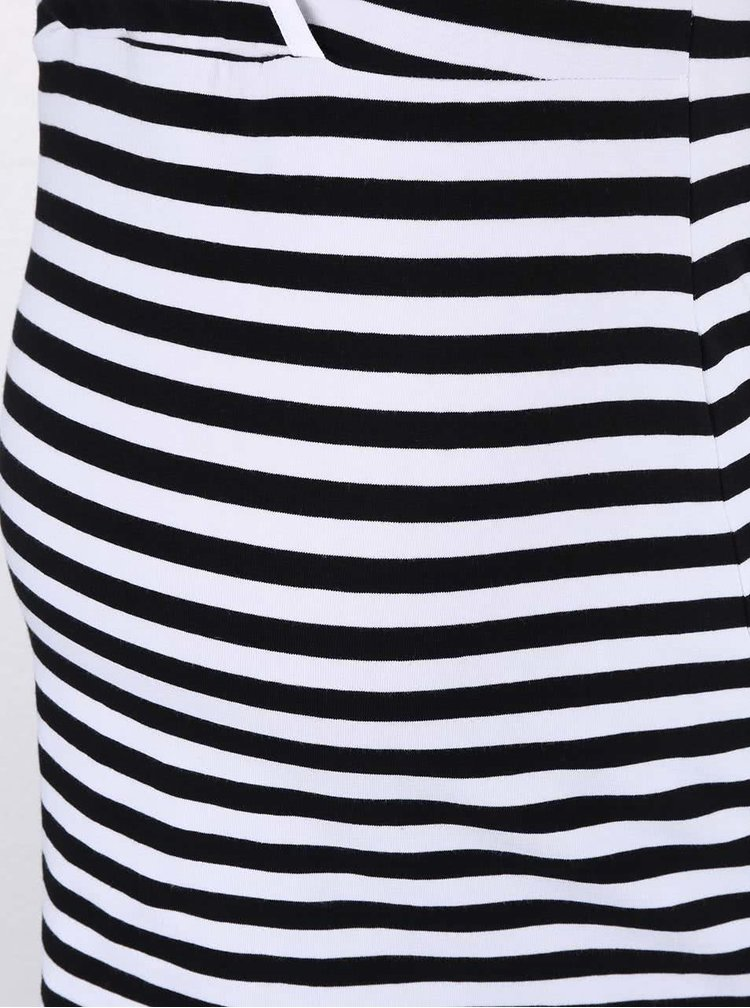 Tricou Dorothy Perkins Maternity negru cu dungi