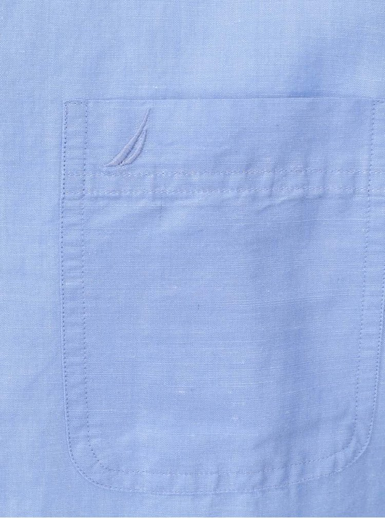 Modrá pánska košeľa z ramie s krátkym rukávom Nautica