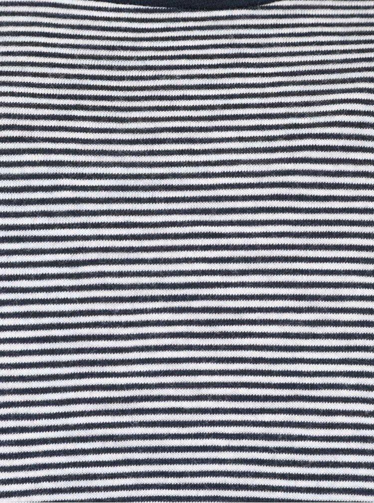 Modro-krémové pánske pruhované tričko s dlhým rukávom Nautica