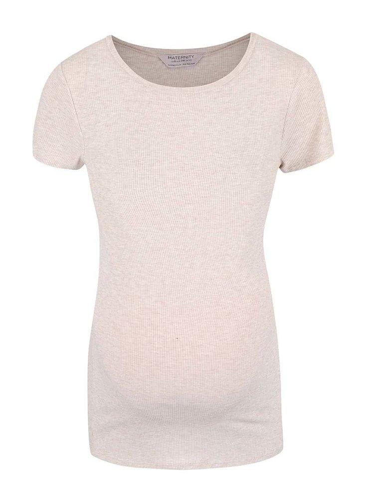 Světle růžové žíhané těhotenské tričko Dorothy Perkins Maternity