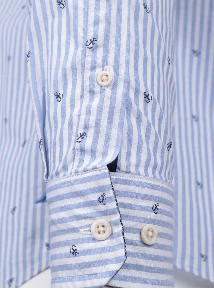 Svetlomodrá pánska pruhovaná košeľa so vzorom Nautica