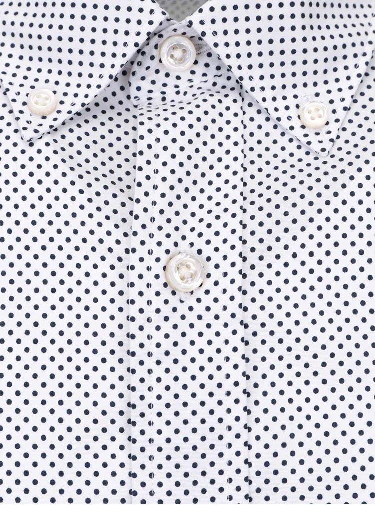 Biela pánska košeľa s bodkami Nautica