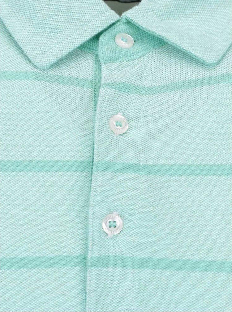 Mentolově zelené pánské pruhované polo triko Nautica