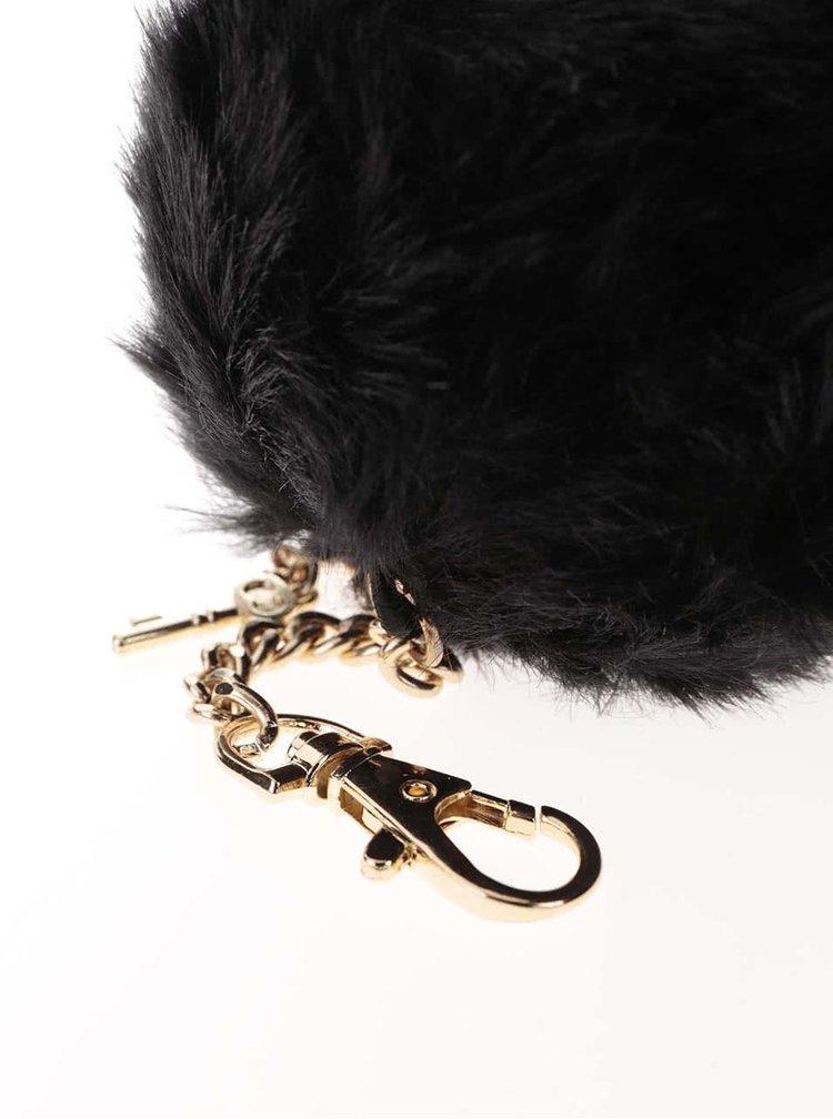 Černý kulatý přívěšek s klíčkem ve zlaté barvě Dorothy Perkins