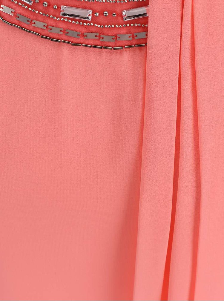 Rochie Dorothy Perkins roz neon cu aplicatii