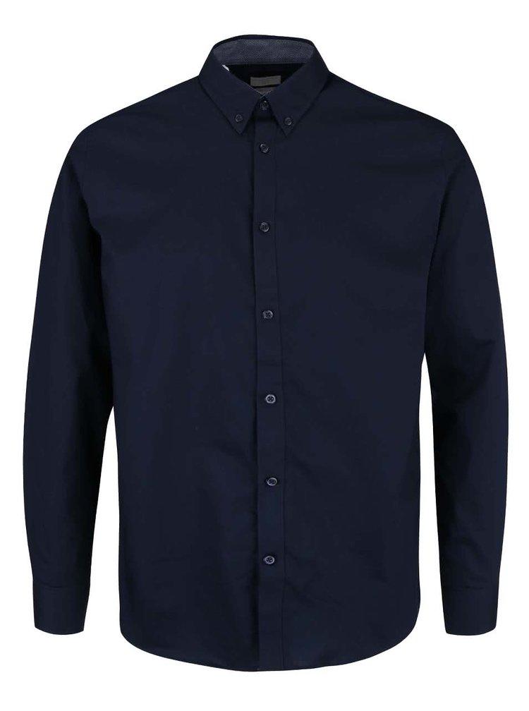 Tmavomodrá slim fit košeľa Selected Homme Mark