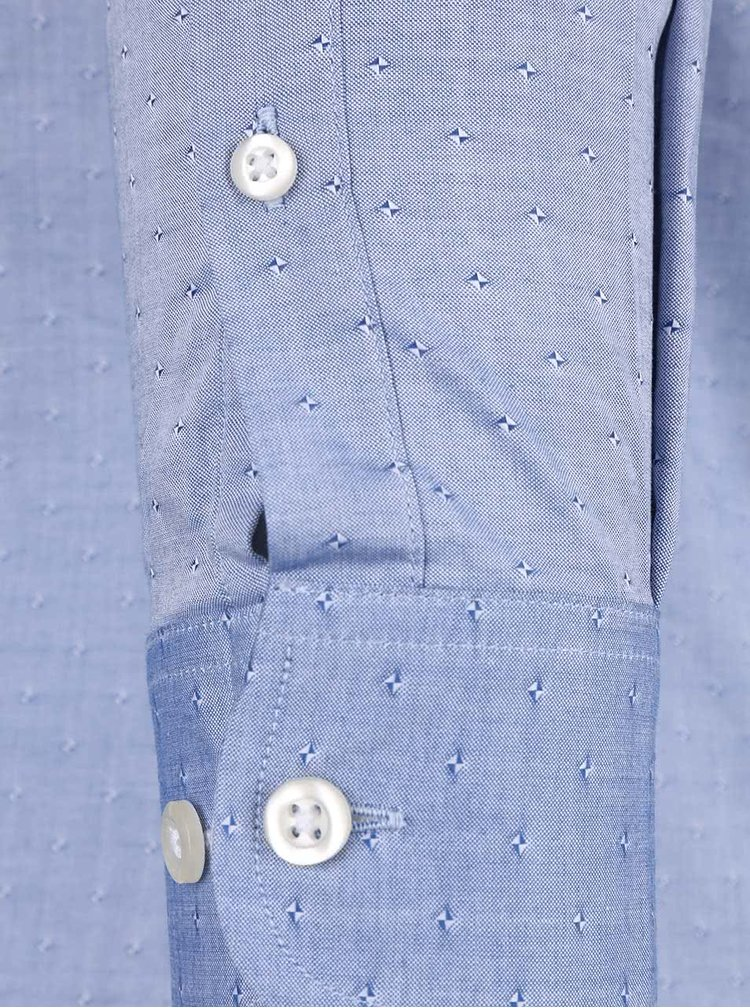 Modrá košile s jemným vzorem Selected Homme Christina