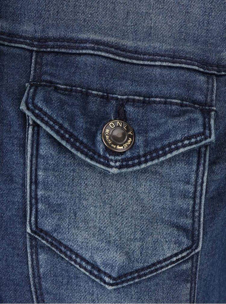 Modrá džínová kratší bunda ONLY Westa