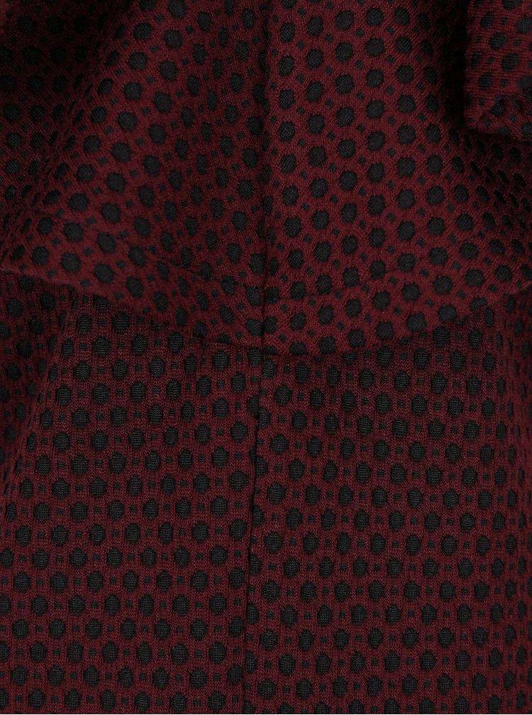 Čierno-vínové vzorované šaty VILA Clemment