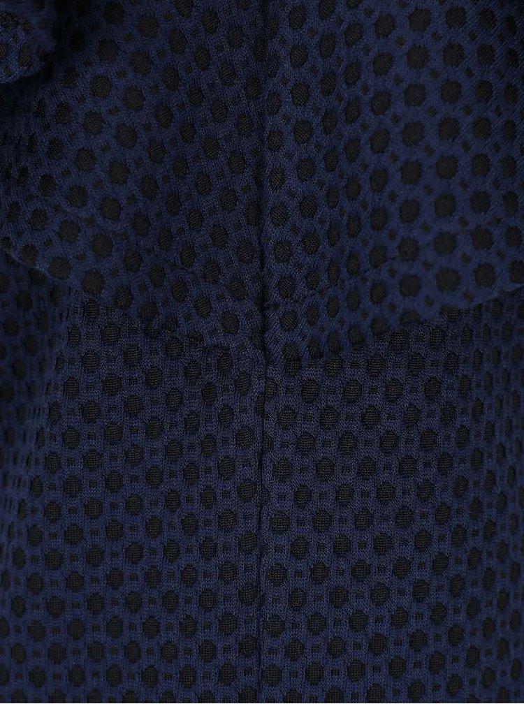 Čierno-modré vzorované šaty VILA Clemment
