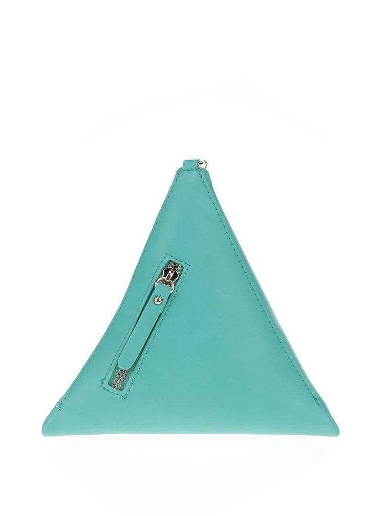 Zelená listová kabelka v tvare ihlanu LYDC